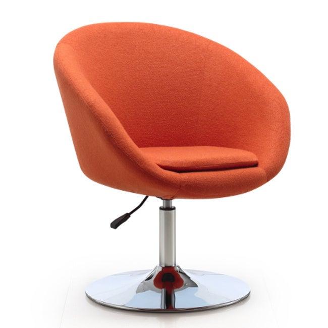 Ceets Barrel Adjustable Swivel Leisure Chair (Orange) (Le...