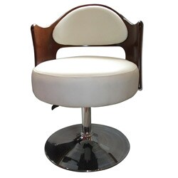 Caravan Bicast Leather Adjustable Leisure Chair White