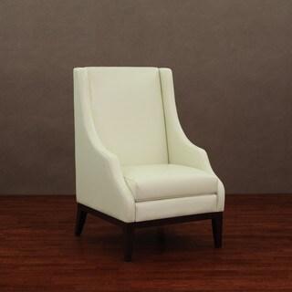Lummi Ivory Leather High-back Chair
