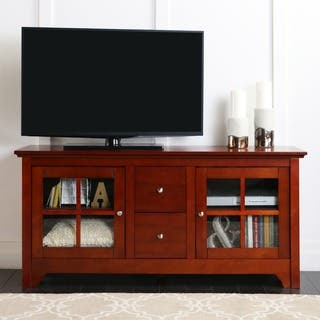 52-inch Cherry Wood TV Stand with Drawers|https://ak1.ostkcdn.com/images/products/4470988/P12420339.jpg?impolicy=medium