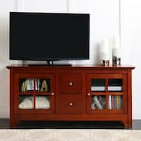 52-inch Cherry Wood TV Stand with Drawers