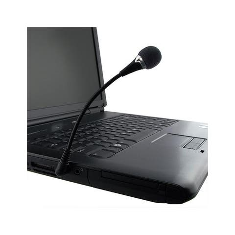 INSTEN VOIP / SKYPE Mini Flexible Black Microphone