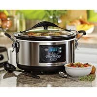 Hamilton Beach Stainless Steel Set 'n Forget Programmable 6-quart Slow Cooker