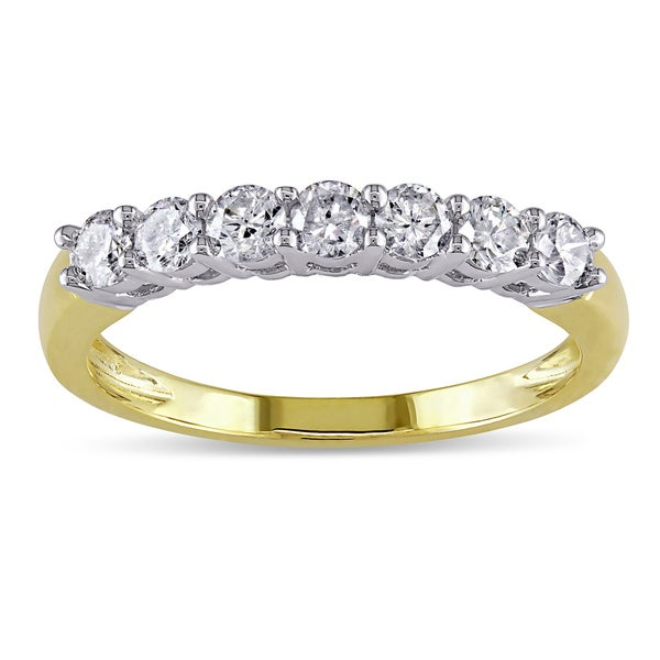 Miadora 14k Gold 1/2ct TDW Round Diamond Wedding Ring (G-H, I1-I2)