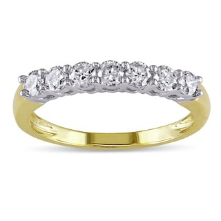 Miadora 14k Gold 1/2ct TDW Round Diamond Wedding Ring