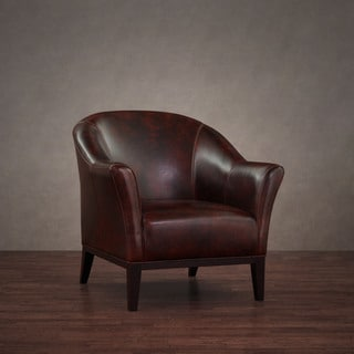 Tivoli Mahogany Leather Arm Chair