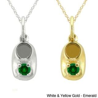 10k Gold Birthstone 'Baby Booty' Designer Necklace