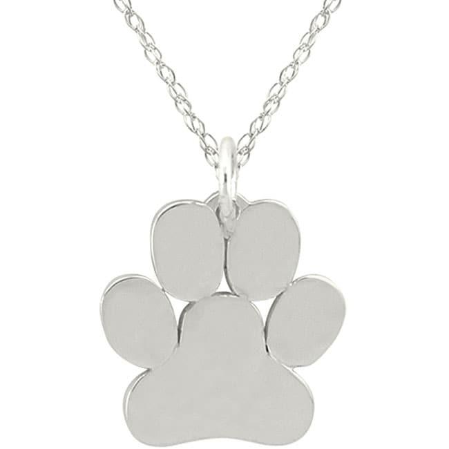10k Gold Petite Paw Print Designer Necklace