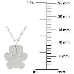 10k Gold Petite Paw Print Designer Necklace - Thumbnail 2