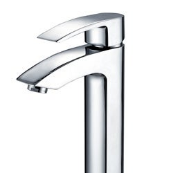 KRAUS Visio Single Hole Single-Handle Vessel Bathroom Faucet with Pop-Up Drain in Chrome - Thumbnail 2