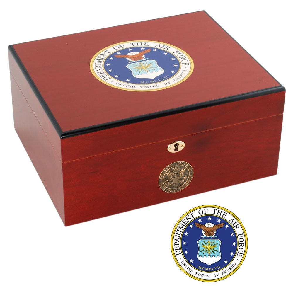 U.S. Air Force Edition Two Cigar Humidor - Thumbnail 1