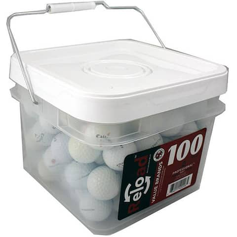 Callaway 100-count Recycled Golf Balls in a Free Bucket