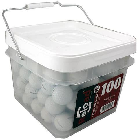 TaylorMade 100-piece Recycled Golf Balls in a Free Bucket