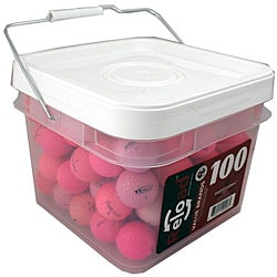 Red Labeled Pink Recycled Golf Balls (Pack of 100)