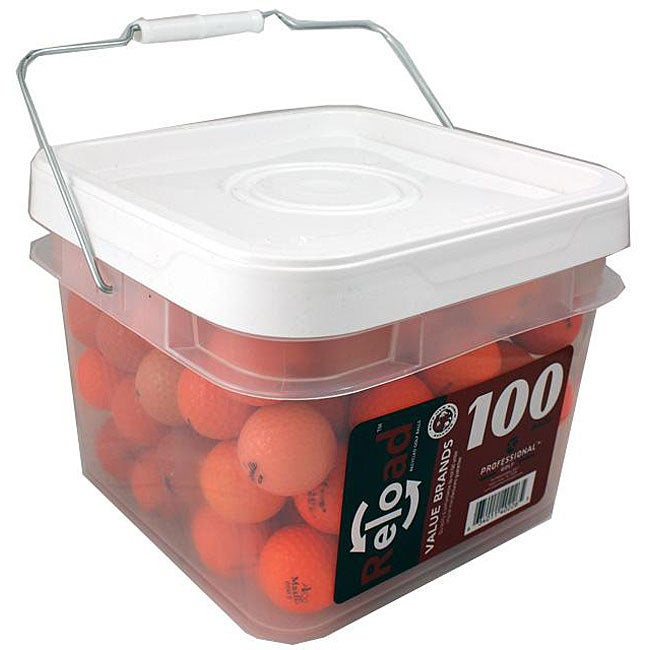 Red Labeled Orange Recycled Golf Balls (Pack of 100)