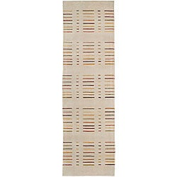 "Nourison Spectrum Hand-tufted Ivory Wool Rug Runner - 2'3"" x 8'"