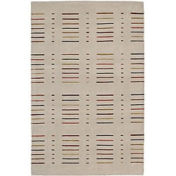 Nourison Spectrum Hand-tufted Ivory Wool Rug (3'6 x 5'6)