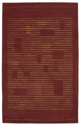 Nourison Spectrum Hand-tufted Rust Wool Rug (5'3 x 8'3) - Thumbnail 2
