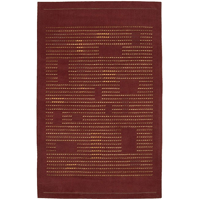 Nourison Spectrum Hand-tufted Rust Wool Rug - 5'3 x 8'3
