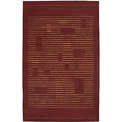Nourison Spectrum Hand-tufted Rust Wool Rug - 5'3 x 8'3 - Thumbnail 0