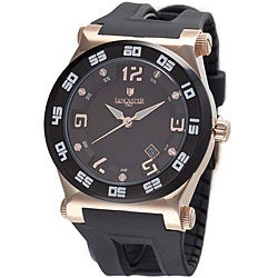Lancaster Italy Men's Barreto Solo Tempo Rose Goldplated Case Watch