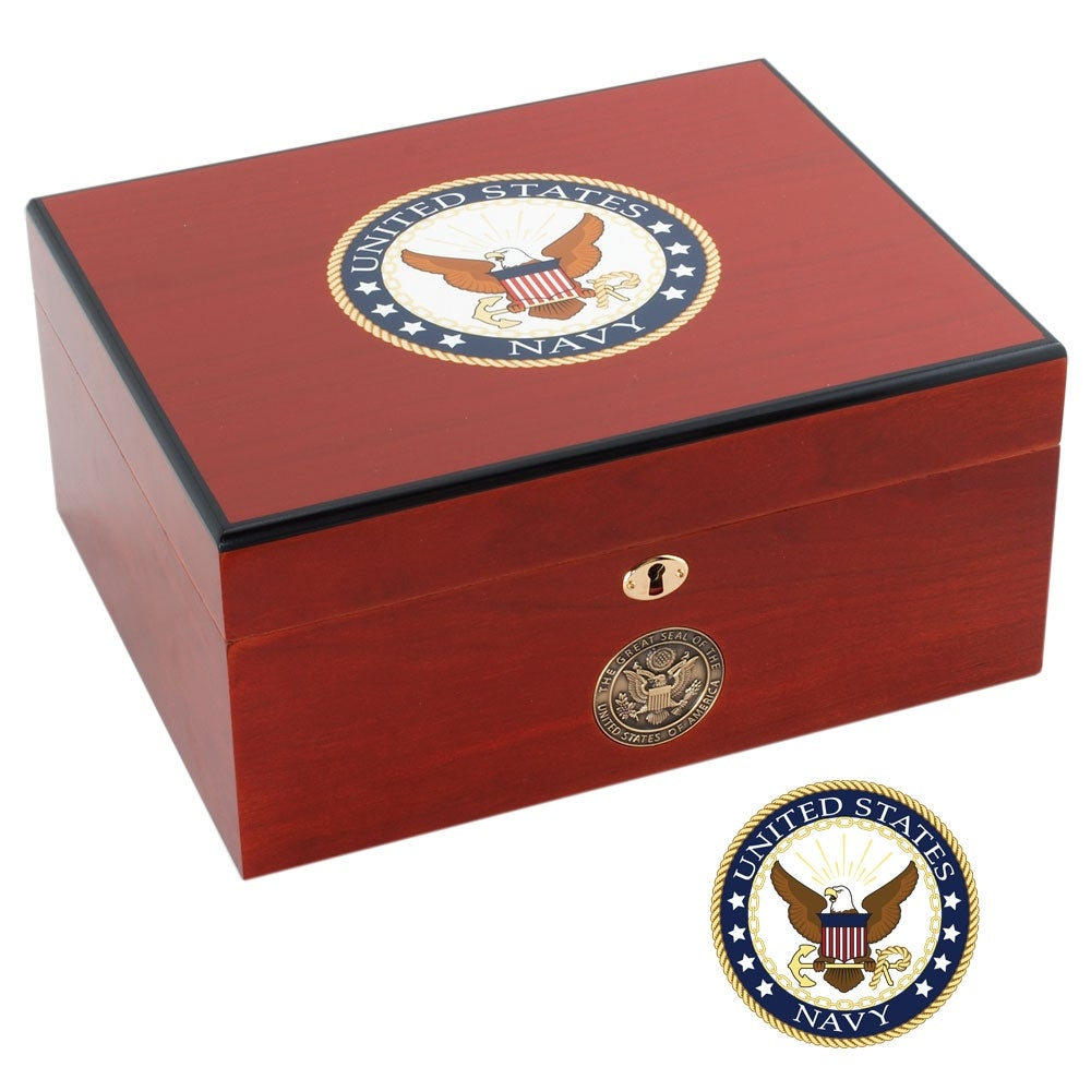 U.S. Navy Cigar Humidor Two - Thumbnail 1