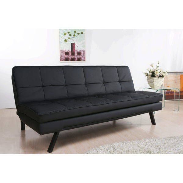 full sleeper sofa leather. abbyson newport faux leather futon sleeper sofa - free shipping today overstock.com 12434243 full