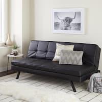 Abbyson Newport Faux Leather Futon Sleeper Sofa
