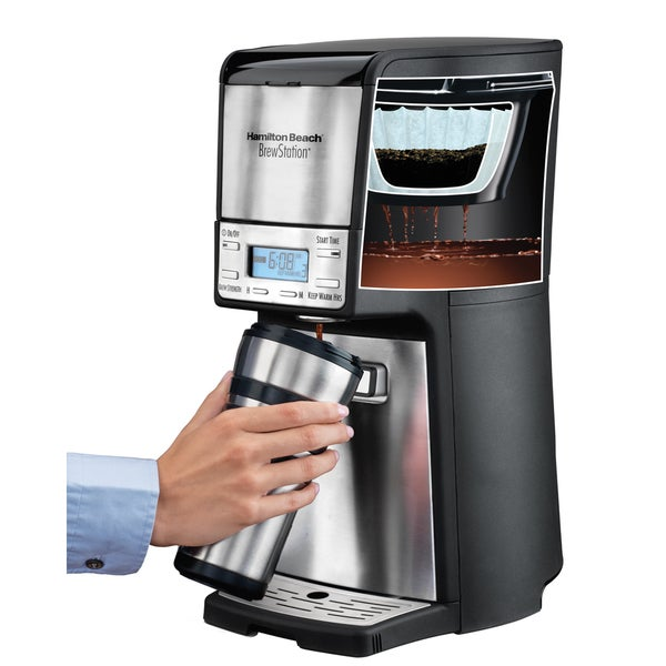hamilton beach brewstation 12cup programable dispensing coffee maker free shipping today