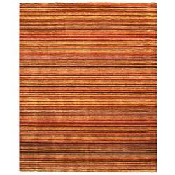 Handmade Wool Transitional Stripe Lori Toni Rug - 6' x 9'