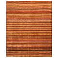 Handmade Wool Transitional Stripe Lori Toni Rug (9' x 12')