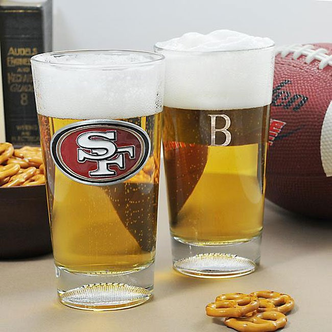 28af4202714 Shop 49ers NFL Pint Glasses (Set of 2) - Free Shipping Today ...