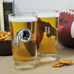Redskins NFL Pint Glasses (Set of 2)