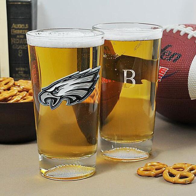 Eagles NFL Pint Glasses (Set of 2)