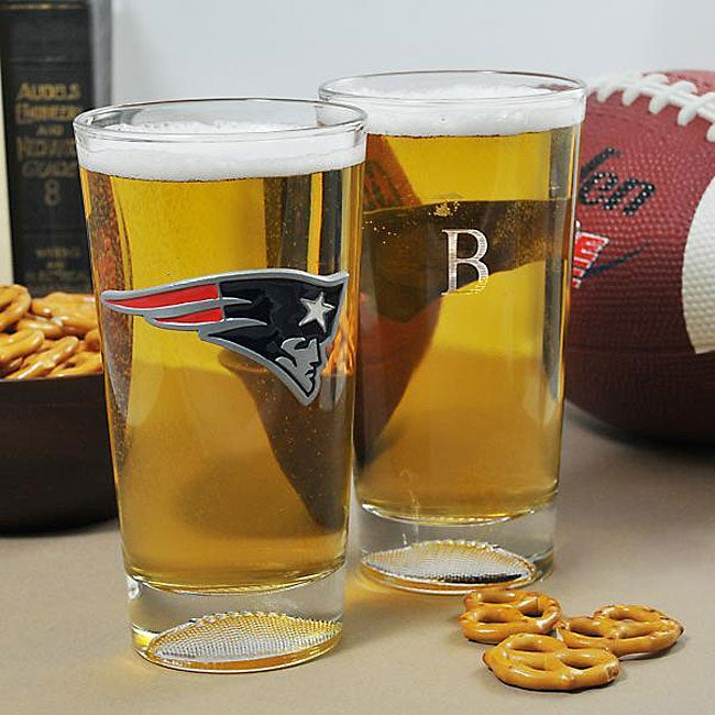 Patriots NFL Pint Glasses (Set of 2)