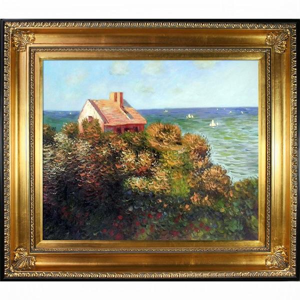 Claude Monet 'Fisherman's Cottage' Framed Art