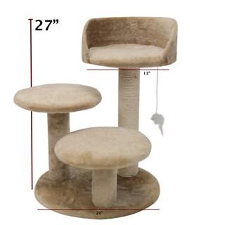 Majestic 27-inch Casita Cat Faux Fur Furniture Tree