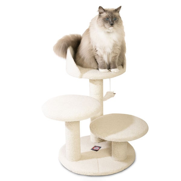 Majestic 27-inch Casita Cat Faux Sherpa Furniture Tree