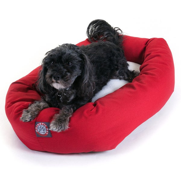 Majestic Pet Bagel-style Red 24-inch Dog Bed