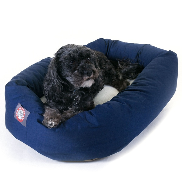 Majestic Pet Bagel-style Blue 24-inch Dog Bed