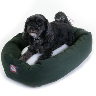 Majestic Pet Bagel-style Green 24-inch Dog Bed
