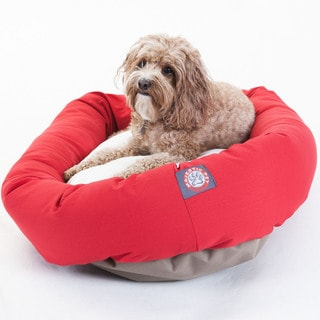 Majestic Pet Bagel-style Red 32-inch Dog Bed