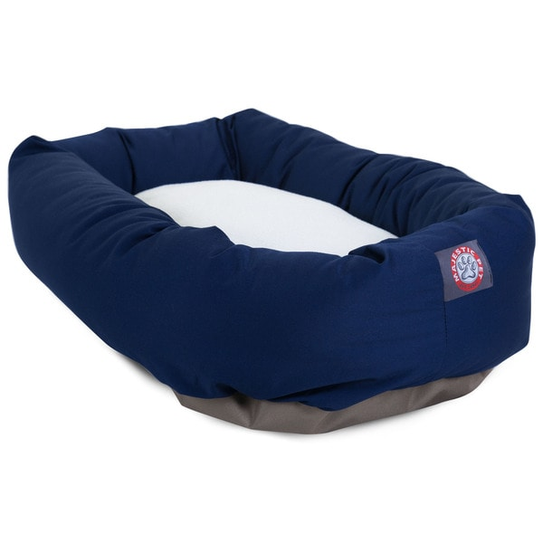 Majestic Pet Bagel-style Blue 40-inch Dog Bed