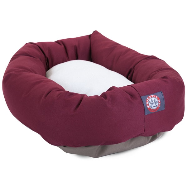 Majestic Pet Bagel-style Burgundy 40-inch Dog Bed