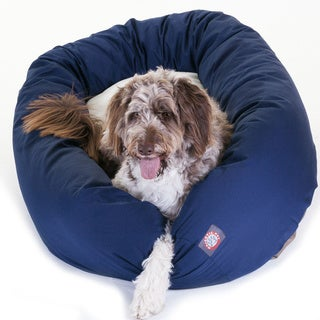 Majestic Pet Bagel-style Blue 52-inch Dog Bed