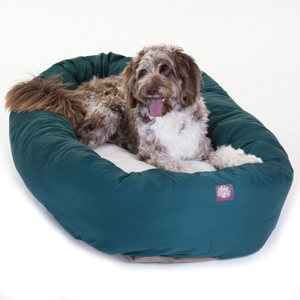 Majestic Pet Bagel-style Luxurious Heavy duty 52-inch Dog Bed in Green