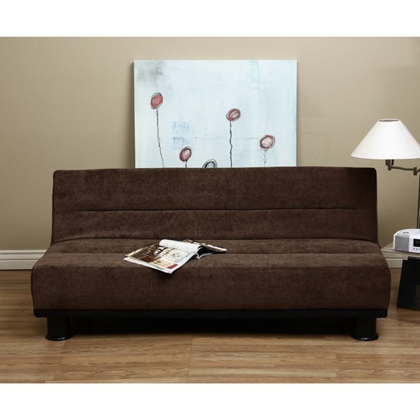 Cocoa velvet like sofa bed free shipping today for Sofa bed overstock