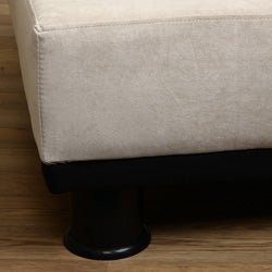 Cream Velvet - Look Sofa Bed - Thumbnail 2