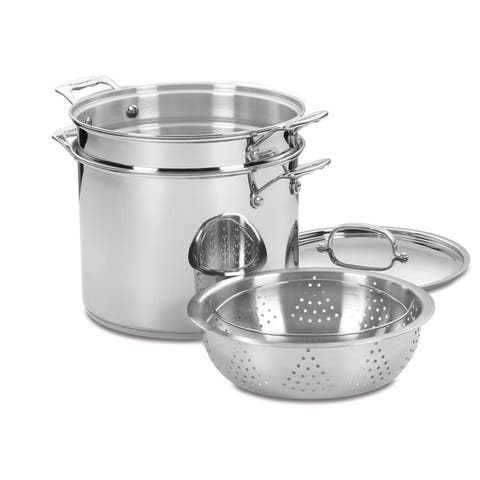 Cuisinart Chef's Classic Stainless 4-Piece Pasta/Steamer Set