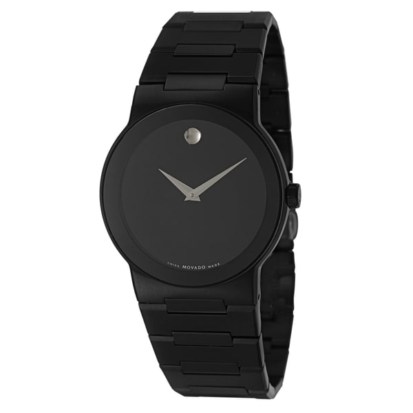 Movado Men's Black Saphiro Watch